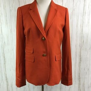 NWT J. Crew Schoolboy Style Blazer Burnt Orange